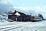 Middleton Station with VIA train December 1989