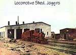 Locomotive shed about 1940